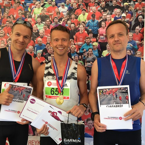Icelandic men's marathon winners.
