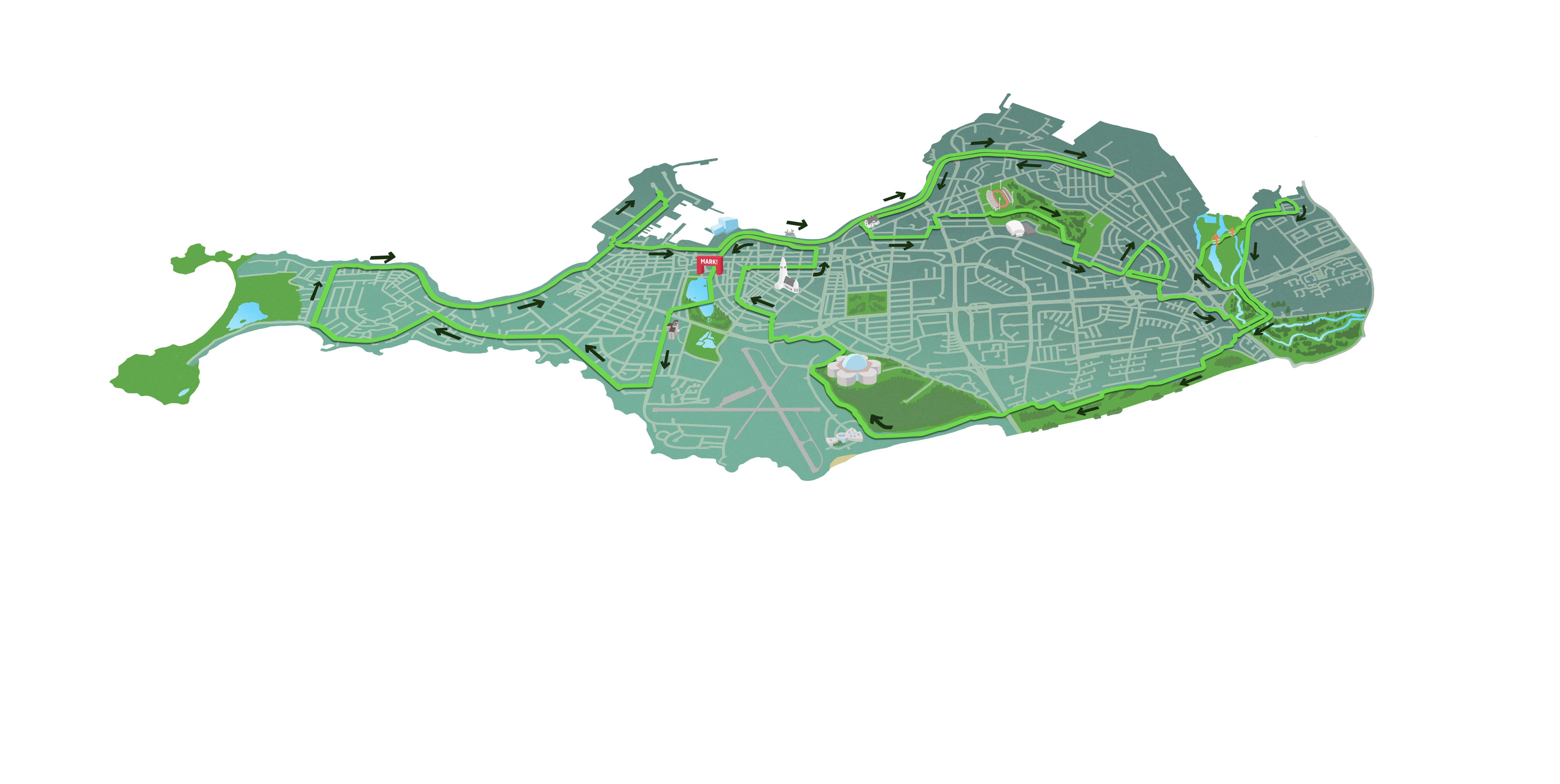 Map of the marathon distance