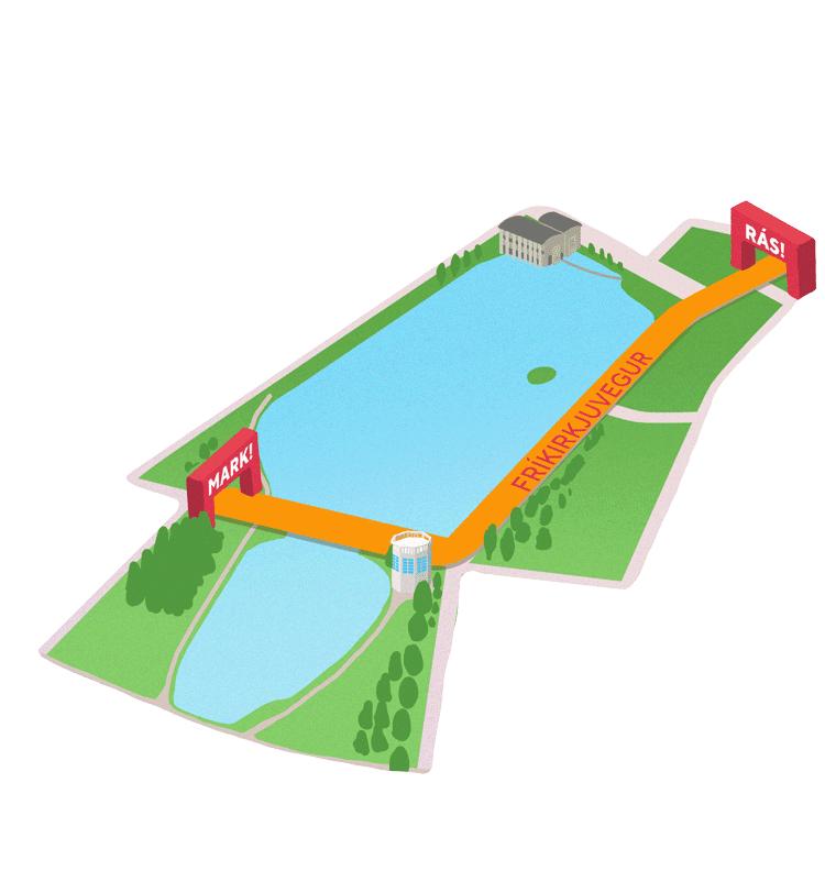 Map of the 600 m fun run