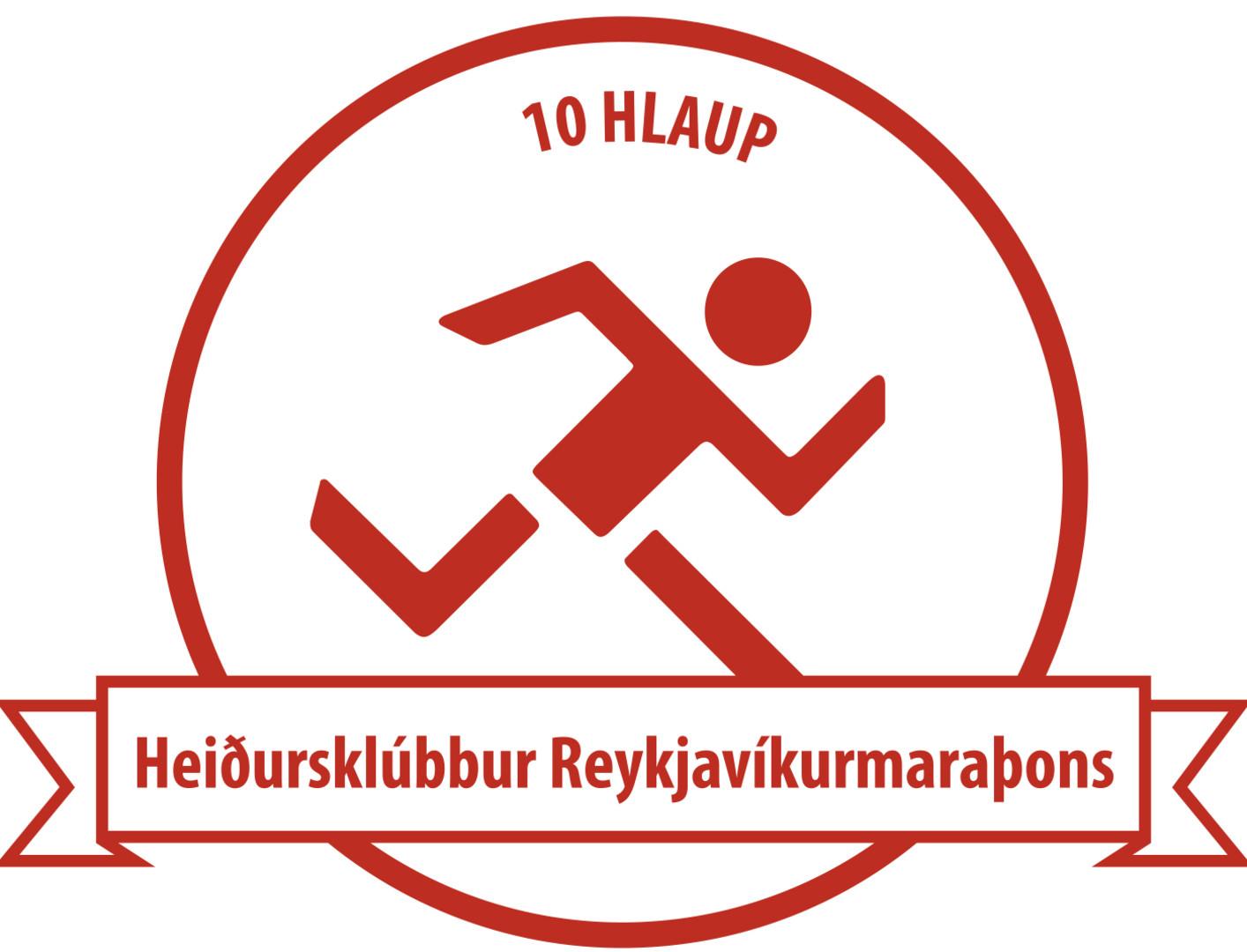 Merki Heiðursklúbbs Reykjavíkurmaraþons